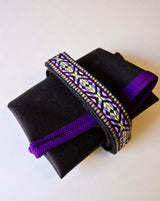 ABCSF Tool roll- Black with Purple Southwest Trim