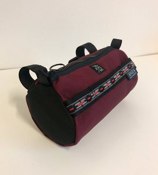 ABCSF Handlebar Bag- Burgundy and Black