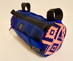 ABCSF Handlebar Bag-  Navy Blue with Pink Board short side panels
