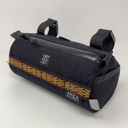 ABCSF Handlebar Bag- Black with Red and Gold Trim
