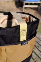 Anza Tote Bag-Black and Tan