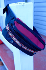 Anza Hip Pack- Black and Red