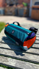 Handlebar Bag- Teal and Orange
