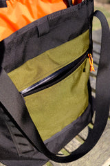 Anza Tote Bag-Black and Olive Green