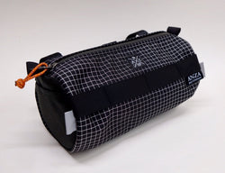 Anza Handlebar Bag- Black and White Ripstop