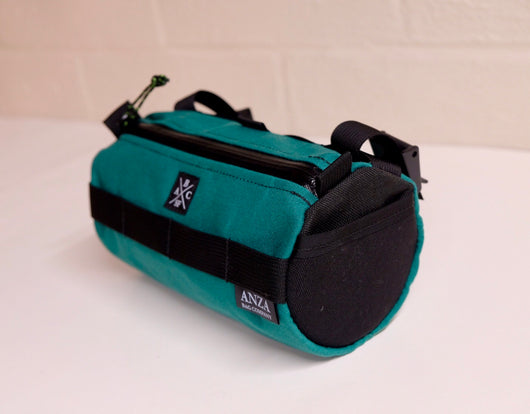 ABCSF Handlebar Bag- Teal with Black Side Panels