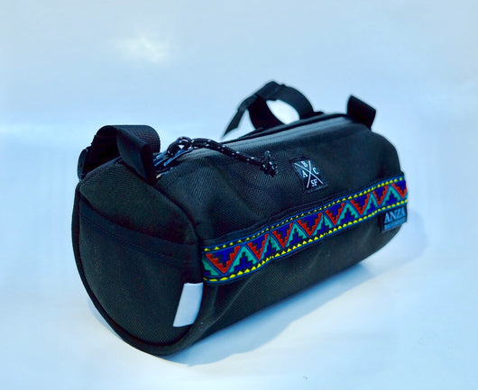 Handlebar Bag- Black and Aztec