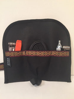 ABCSF  Tool roll- Black with Red and Gold Trim