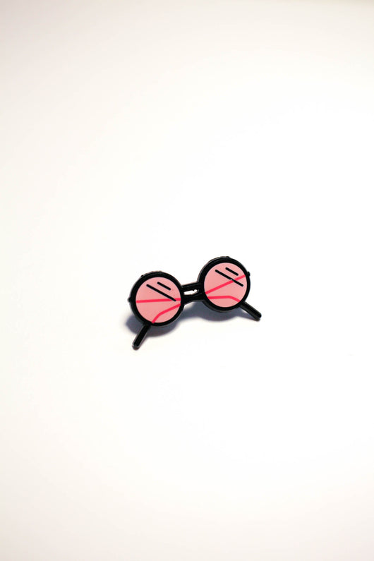 Rose-Colored Glasses Pin