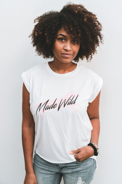 Made Wild Season Two 80's Rolled-Cuff Muscle Tee