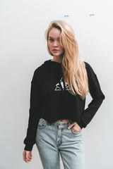 Eye of Her Providence Crop Sweater - Black