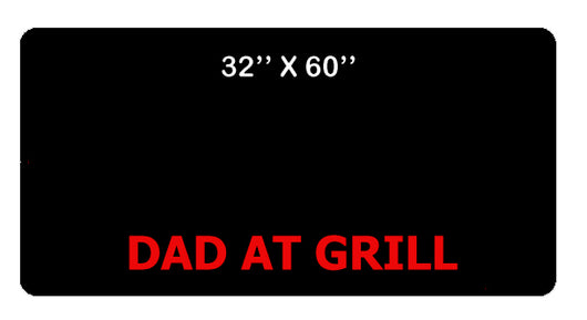 Personalized BBQ Mat - 32 x 60in
