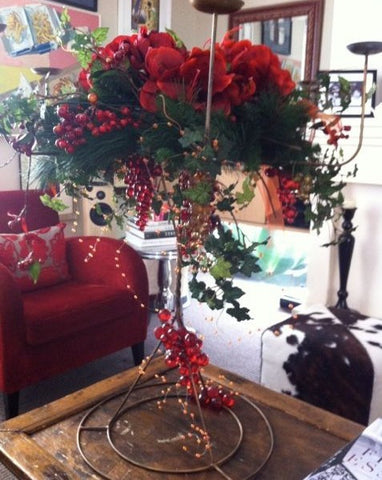 Christmas Candelabra Arrangement
