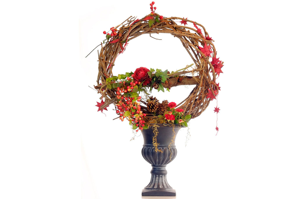 Large Christmas Floral Arrangement - with vase