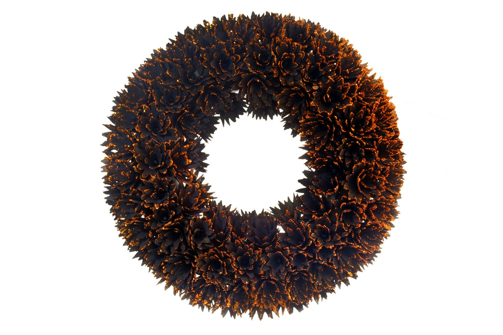 Black and Copper Jardin Wreath