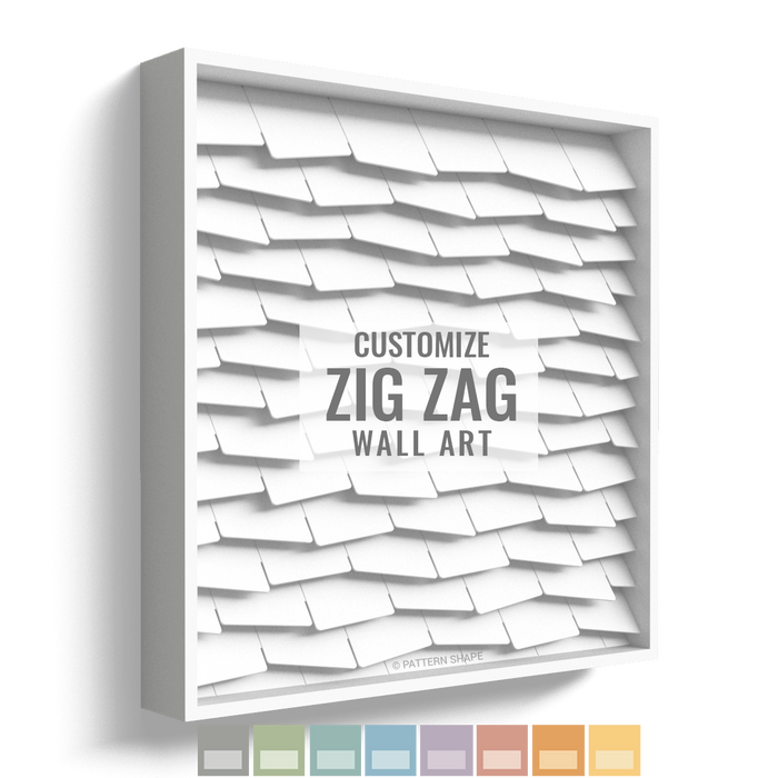 Zig Zag | Framed Wall Art