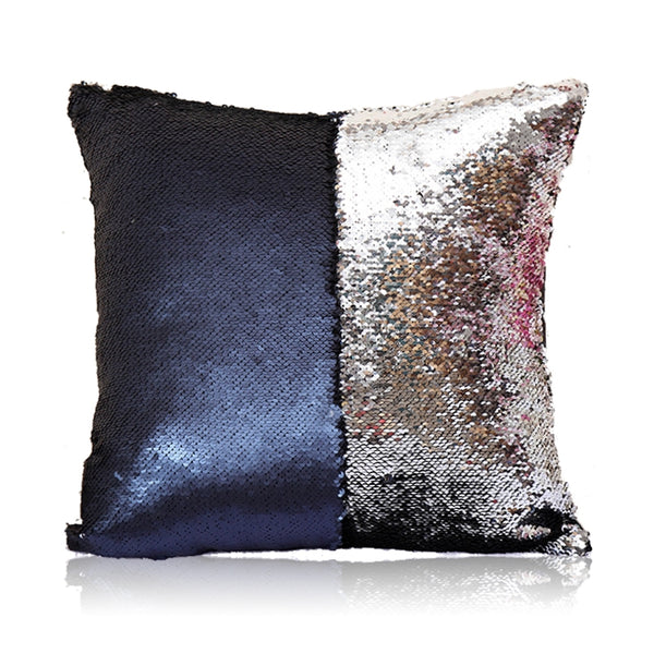 Navy & Silver Sequin Pillow Covers - Swanky Lil' Frills