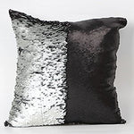 Black & Silver Sequin Pillow Covers - Swanky Lil' Frills
