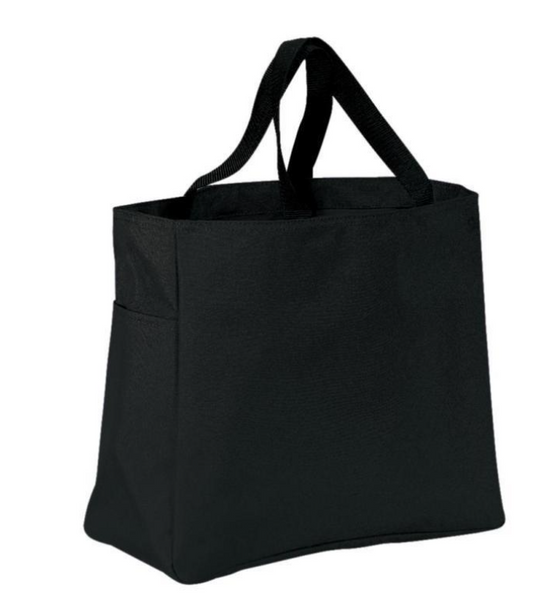 Polyester Tote Bags - Black - Swanky Lil' Frills