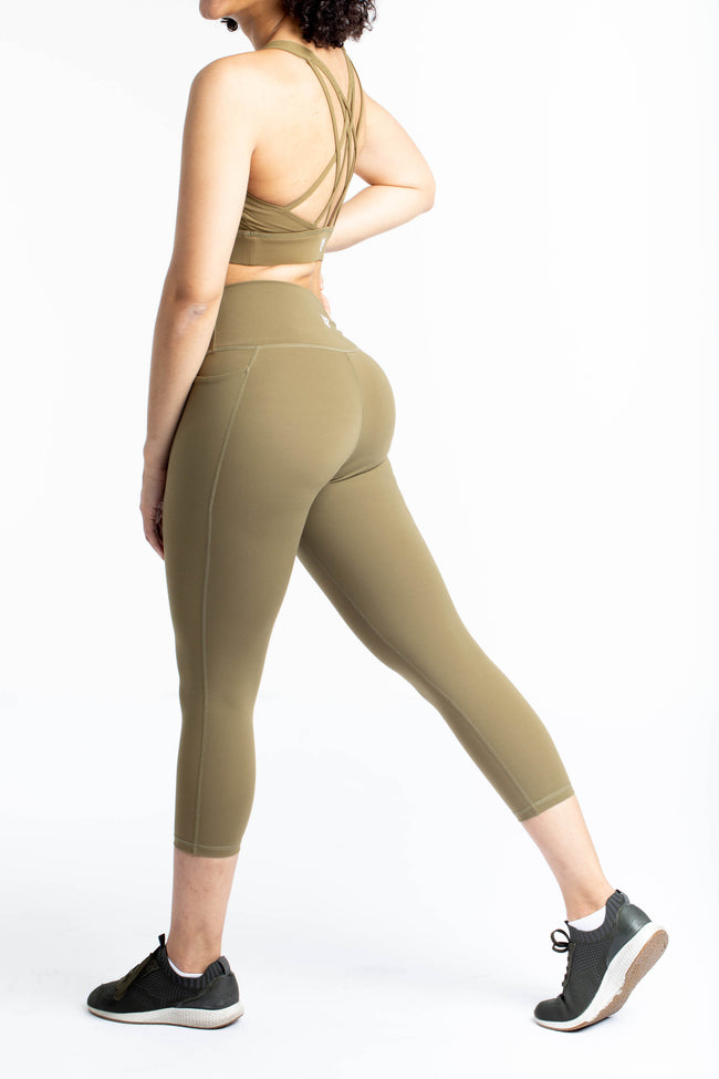 Dream Pocket Legging : Olive Crop