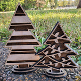 Set of 3 laser cut 3D Christmas Trees