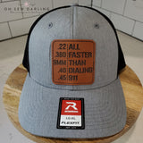 Richardson Hat - Laser etched patches