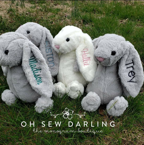 Bunny stuffed animal personalized