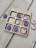 Easter Tic Tac Toe Personalized with Name