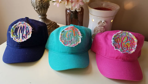 Patch Hat with Monogram- Youth Or Adult