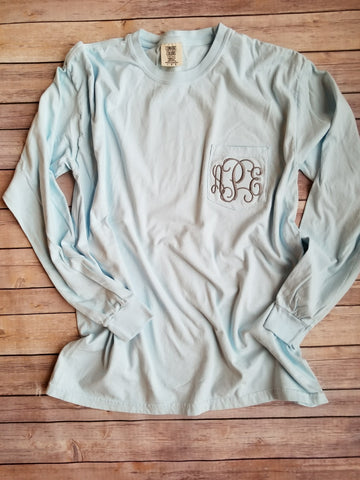 Comfort Colors Long Sleeve Pocket Tee