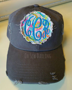 Paisely Patch Hat - Personalized