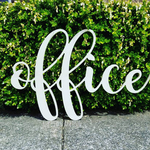 Wood Cut Sign- Cursive