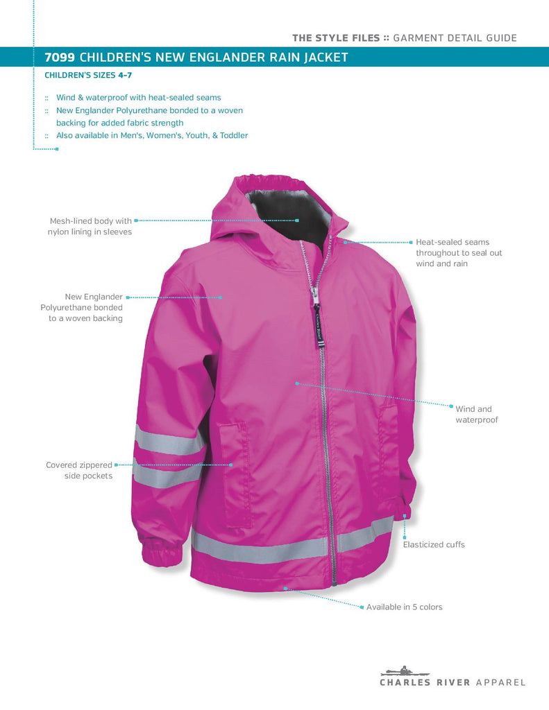 77cd33a83353 ... Charles River New Englander Rain Jacket- Toddler to Youth Sizes ...
