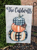 Garden Flag - Fall/Winter - Double Sided - Personalized