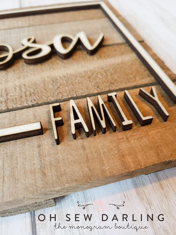 Slatted Wood Name Sign