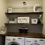 Laundry and Co. Wood Farmhouse Sign