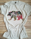 Mama Bear Vintage Tri-Blend Graphic Tee
