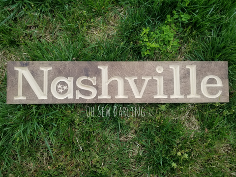 TN Tristar Hometown Wood Sign - City Sign