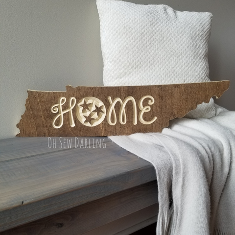 Home State Wood Cutout