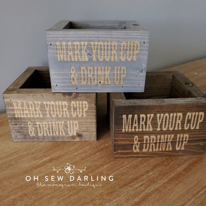 Laser Engraved Wood Cup Holder