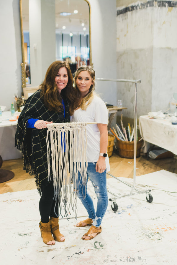 Macrame+Milk Paint Anthropologie Workshop