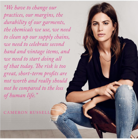 Cameron Russell on Ethical Fashion