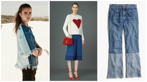 Double toned denim trend