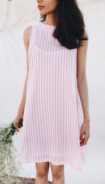 Cotton Candy Striped Sun Dress