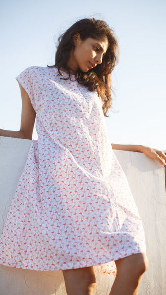 Flamingo Printed Dress