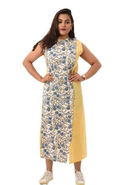 Kalamkari Panelled Dress