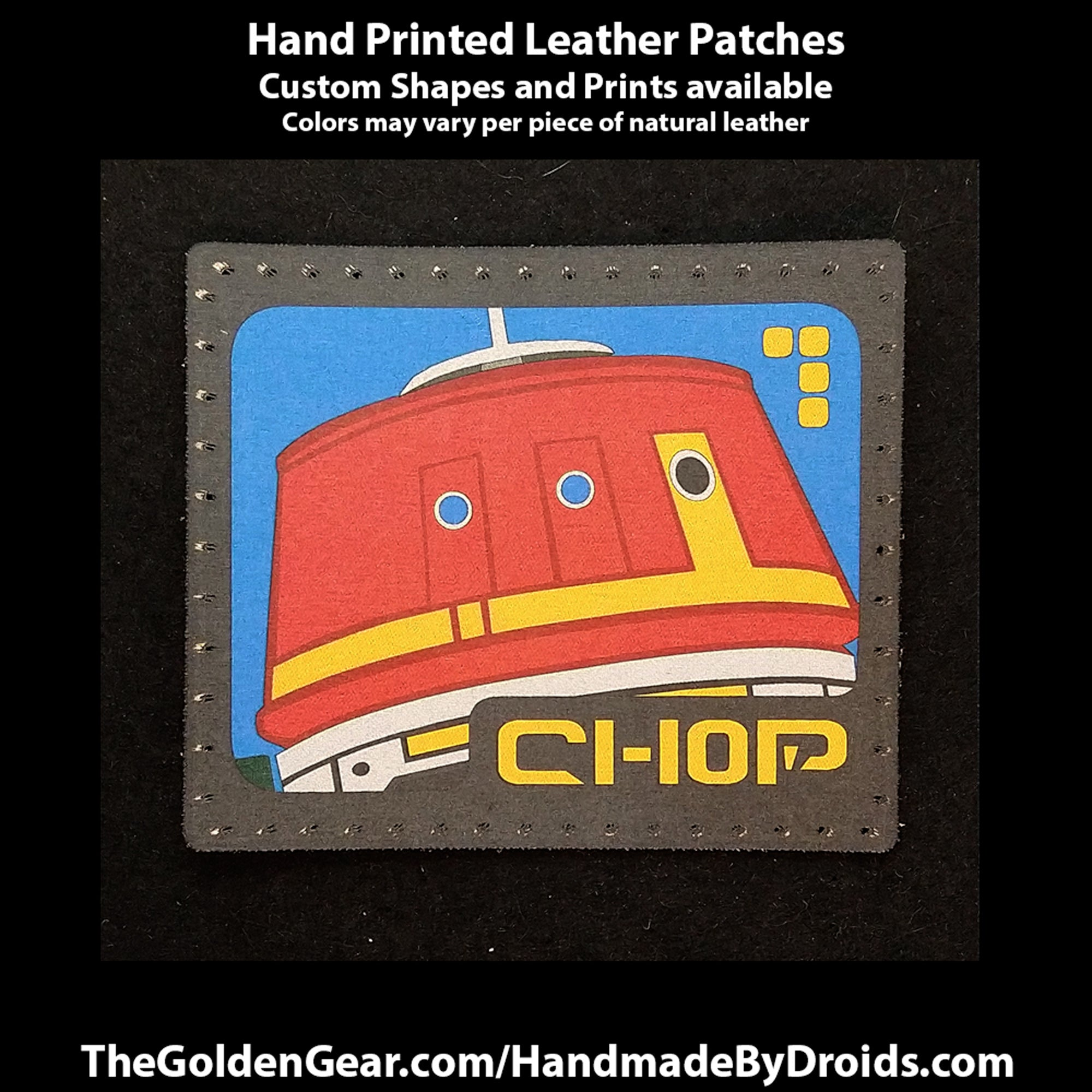 C1-10p Chopper (Star Wars) 3.8 inch Leather Patch