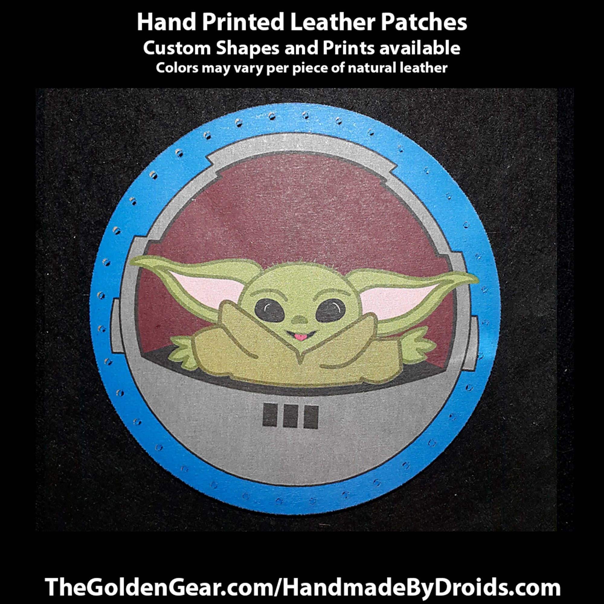 Grogu (Baby Yoda) 3.8 inch Leather Patch