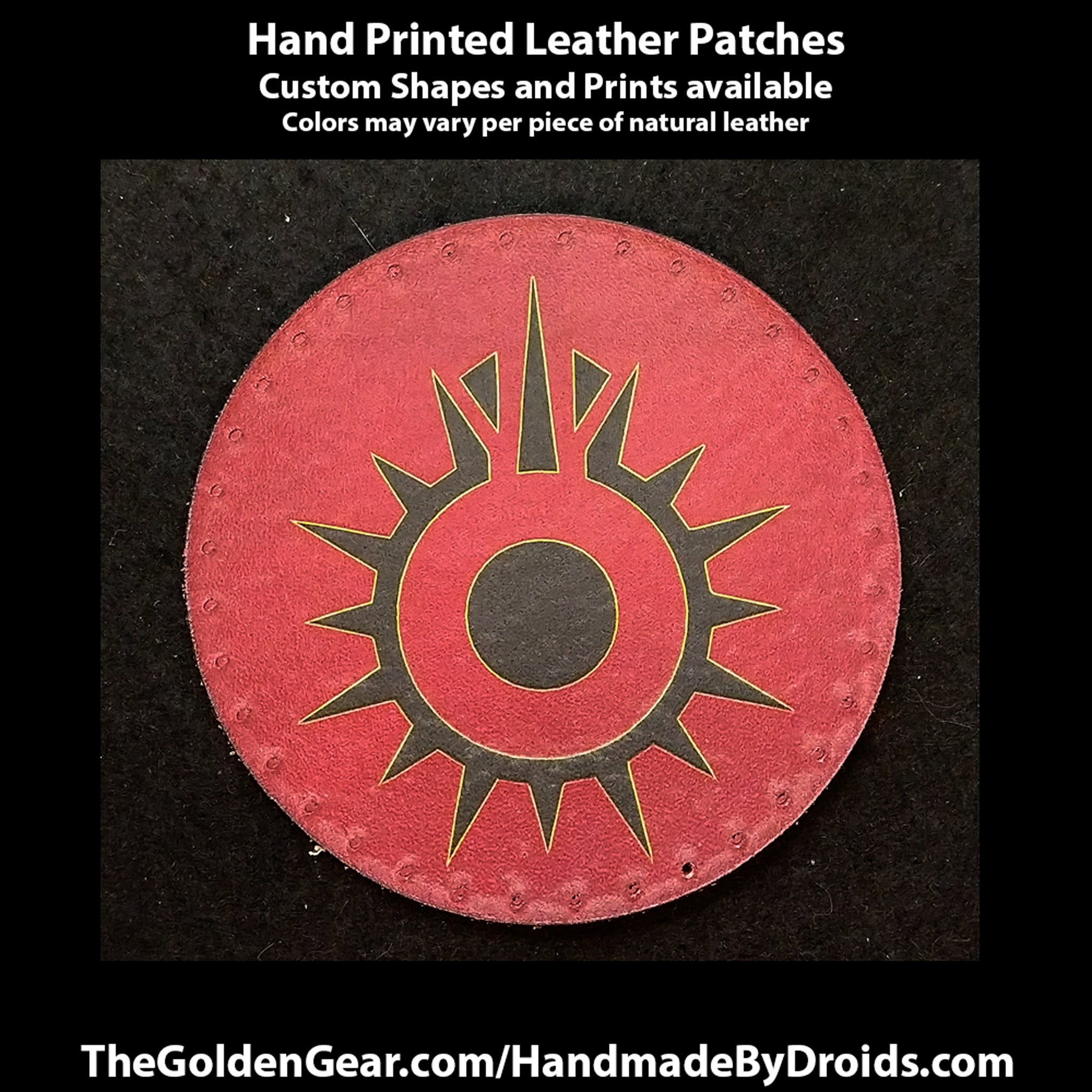 Black Sun Syndicate (Star Wars) 3.8 inch Leather Patch