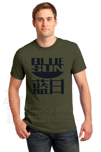 Blue Sun evil corporation logo tee from Firefly
